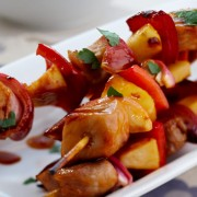 Apple and Pork Kebabs