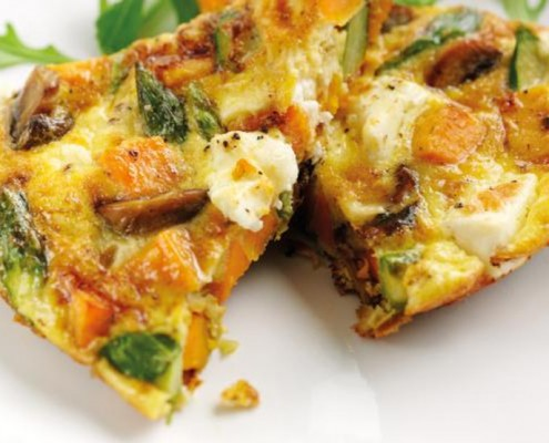 Sweet Potato, Rocket and Asparagus Frittata